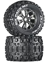 Duratrax Six Pack MT 3.8 Mounted Tyre (Set of 2), Chrome