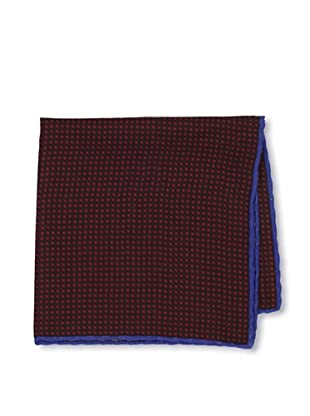 Desanto Men's Check Pocket Square, Red/Brown