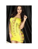Sexy Striped Cutout Mini Chemise Dress, NG21262-Yellow
