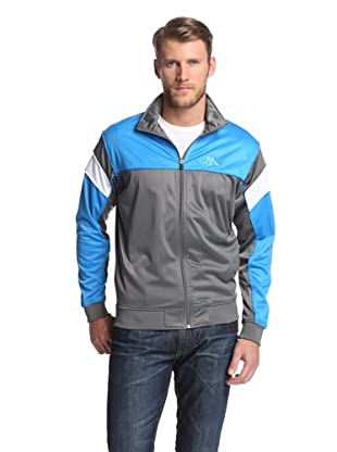 Kappa Men's DDU Jacket (Grey/Italia Blue)