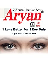 Aryan AquaBlue 3Tone Colour Yearly Contact Lens 1 Lens Pack By Visions India -0.00