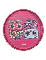 The Chumbak Owl Round Tray
