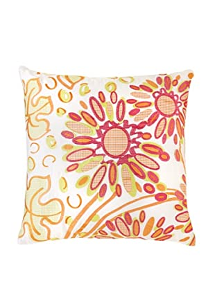 Trina Turk Geo Watercolor Pillow, White/Tropical, 20