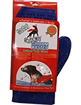 Rubber Bath Glove for Dogs / Blue Color