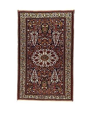 L'Eden del Tappeto Teppich Goochan braun/dunkelblau 227t x t143 cm