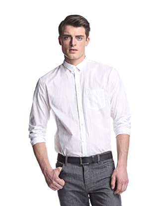 John Varvatos Collection Men's Slim Fit Shirt with Inserted Collar (White)