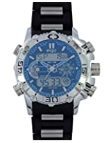 Maxima Ego Analog-Digital Blue Dial Men's Watch - E-35121PAAN