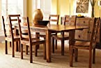 Handiana Smooth honey 6 seater dining table(Solid wood)