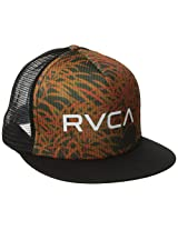 RVCA Men's The Trucker Print Hat, Black, One Size