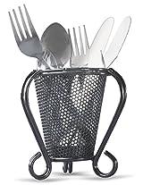 Eoan Cutlery Organizer For Kitchen - 11.8 cms x 12 cms x 13 cms, Black