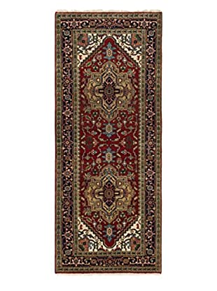 eCarpet Gallery One-of-a-Kind Hand-Knotted Serapi Heritage Rug, Red, 4' 1