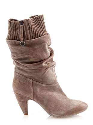 Fornarina PIFEB7605WS70 - Botas de ante para mujer (Beige)