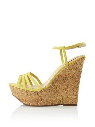 Schutz Women's Quilted Cork Sandal (Sunshine)