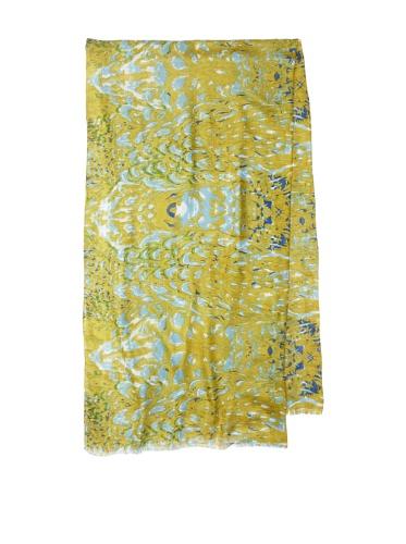 Lulla by Bindya Women's Goa Scarf (Yellow/Blue)