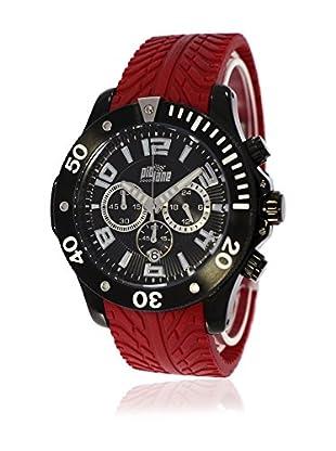 Pit Lane Uhr mit Miyota Uhrwerk Pl-1003-3 rot 48 mm