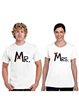 Mr and Mrs Couple T-shirts Cotton White, Gifts for Husband, Gifts for Wife, Anniversary gifts for couple