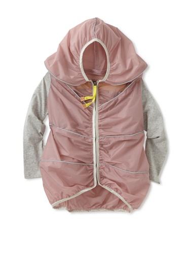 kicokids Girl's Sculpted Cocoon Rain Jacket (Potpouri)