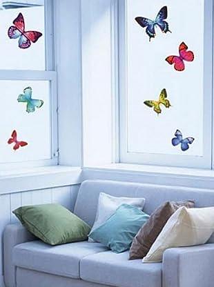 Vinilo Mariposas exóticas Multicolores