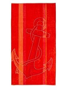 Arkhipelagos Nautical Beach Towel (Red)