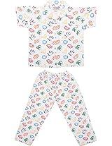 Little Stars Boys' Top and Pyjama Set (Nightsuit_HandPrint_5-6 years, White, 5-6 years)