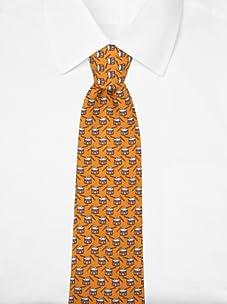 Hermès Men's Snare Drum Tie (Orange/Blue)
