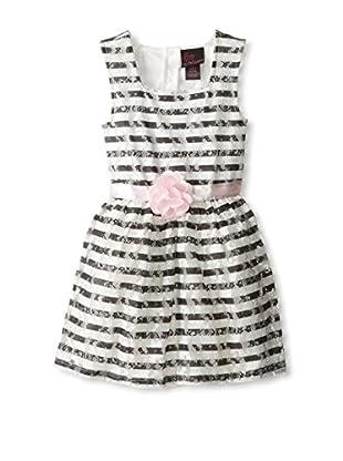 Girls Rule Kid's Striped Lace Dress
