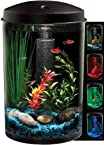 KollerCraft Aqua View 360 Aquarium Kit with LED Light, 3-Gallon