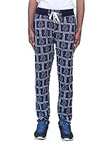 Romano Men's Trendy & Sporty Look Multi-Coloured Fleece Track Pant