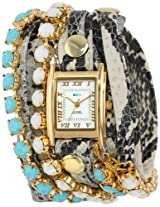 La Mer Collections Women's LMMULTI5003 Chandelier Crystal Chain Collection Colette Watch