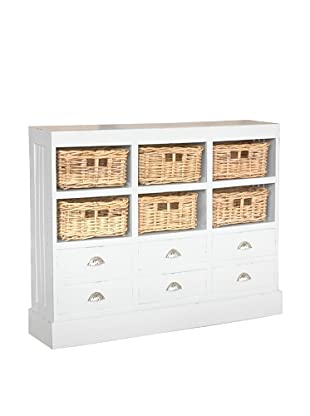 Jeffan Nantucket Storage Cabinet, Antique White
