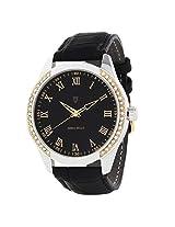 Svviss Bells Stylish Black Dial Studded Watch