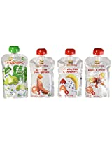 Happy Baby Organic Baby Food Stage 2 Simple Combos Variety 3.5 Oz Pouches (pack of 16)