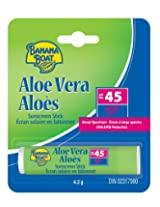 Banana Boat Aloe Vera W/vitamin E Lip Balm SPF 45, .15-Ounce, (Pack of 24)