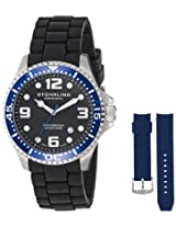 Stuhrling Original Analog Black Dial Men's Watch - 675.01SET