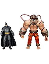 DC Comics Batman: Arkham Asylum: Bane VS Batman Action Figure, Multicolor (2-Pack)