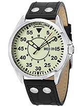 Stuhrling Original Men's 479.33153 Classic Traveler Trackmaster II Swiss Quartz Day and Date Luminous Dial Watch