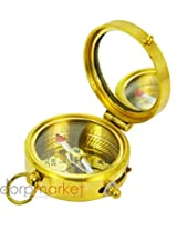 Antique Maritime Ross London Brass Pocket Compass Unique Collectible