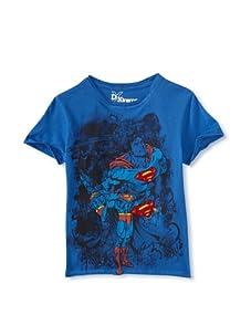 Kid's Republic Boy's Clean Air Superman T-Shirt (Royal Blue)