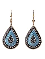 Saadi Gali Brass Dangle & Drop Earring For Women ( Blue )