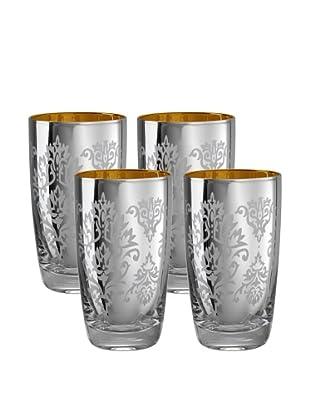Artland Set of 4 Brocade 18-Oz. Highball Glasses (Silver)