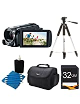 Canon VIXIA HF R500 1080/60p HD Camcorder Black Kit