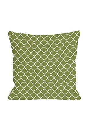 One Bella Casa Fence 18x18 Outdoor Throw Pillow (Green)
