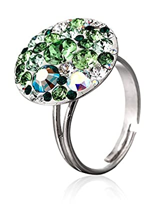 SWAROVSKI ELEMENTS Anillo Small Crystals Verde