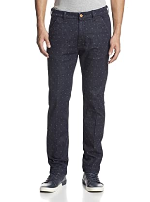 Levi's Made & Crafted Men's Spoke Slim Fit Patterned Chino (Indigo Triangle)