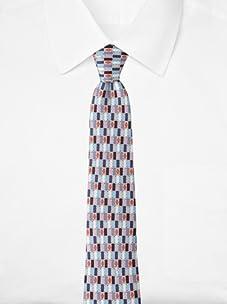 Emilio Pucci Men's Grid Tie, Blue/Red