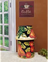 Tuscany Wine Grape Kitchen & Home Candle Jar Holder w/Shade