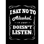 Seven Rays I say no to Alcohol (Small) Poster
