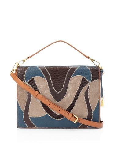 Foley + Corinna Women's Large Letter Bag (Cognac Patchwork)