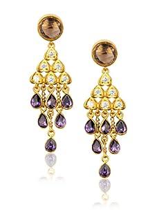 Zariin Purple Bollywood Beauty Earrings