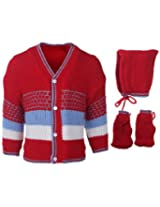 Babyhug Combo Pack Of Sweater Cap And Booties